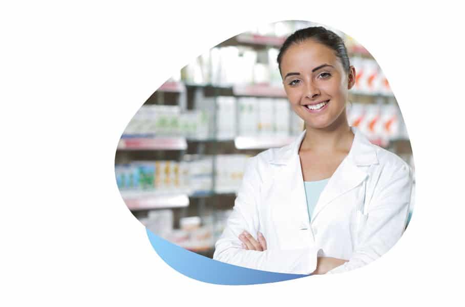Pharmacienne pour produits médicaux santé